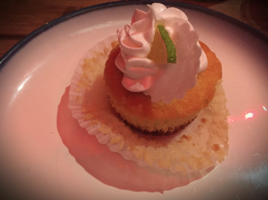 Petite key lime cupcake, Bluefin Scratch Kitchen